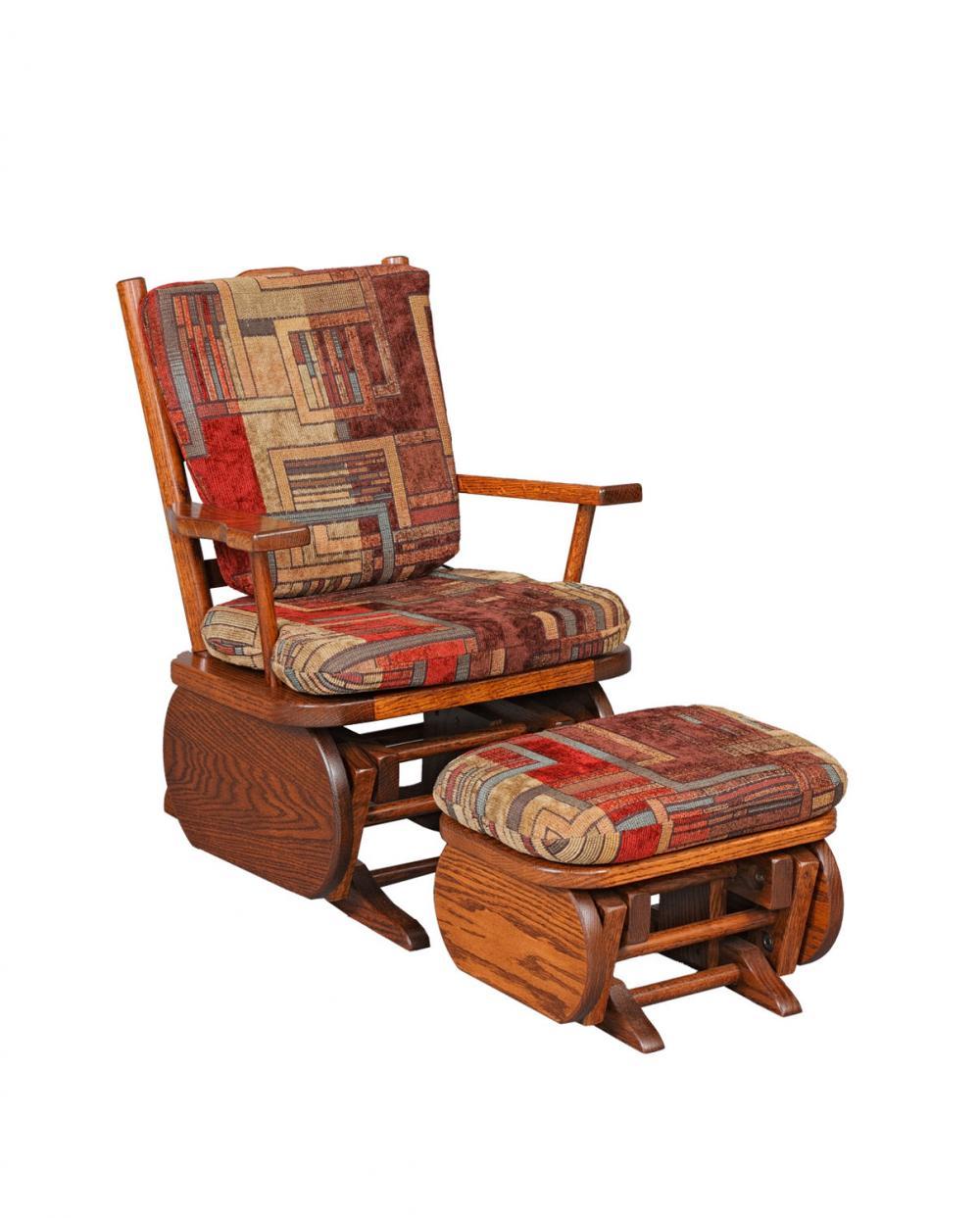 Jakeu0026#39;s Amish Furniture - #20-9 Childu0026#39;s Glider with Ottoman