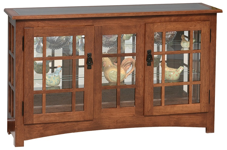 Jake S Amish Furniture Go 2046 Mission Large Console Curio