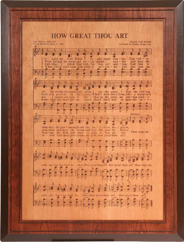 Jake S Amish Furniture Hra02 How Great Thou Art