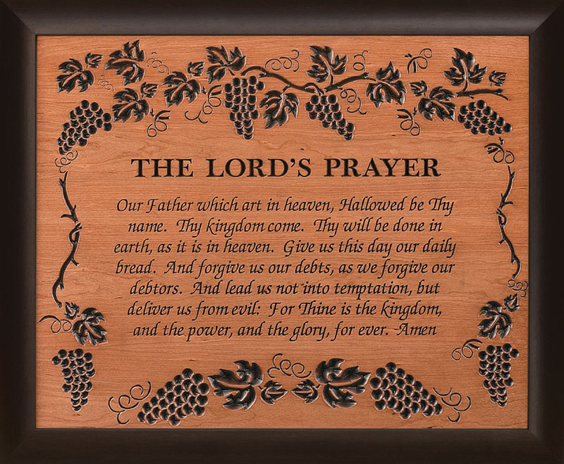 Jake S Amish Furniture Vbf02 The Lord S Prayer