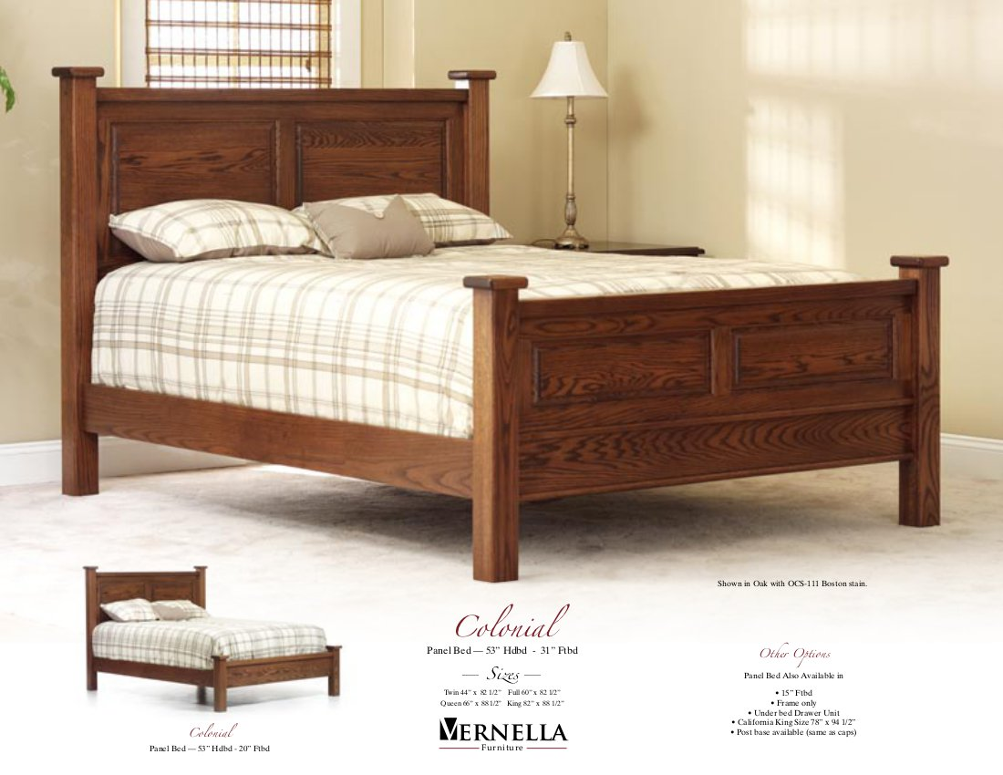 Jake 39 S Amish Furniture Colonial Bed In Oak