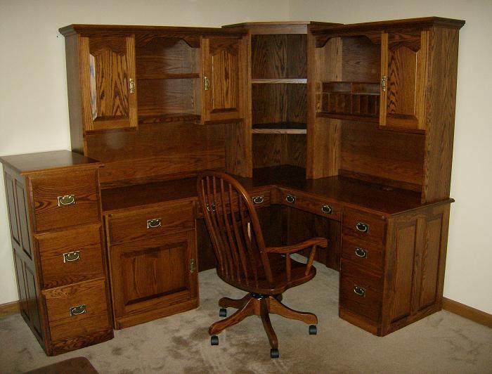 Merveilleux Corner Desk With File Cabinet