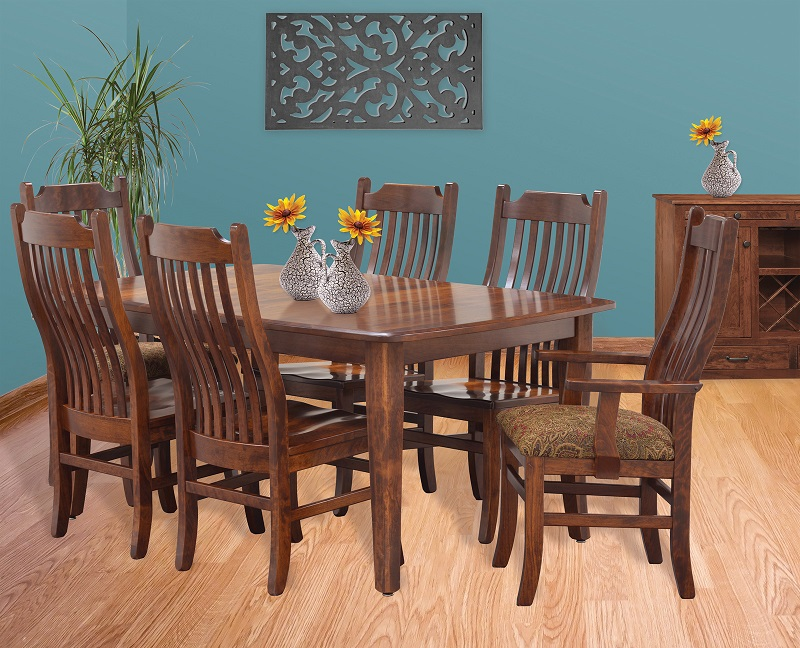 Jake 39 s amish furniture easton pike premium set for Dining room tables easton